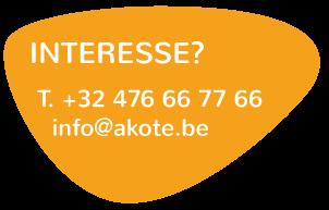 Contacteer àkôté telefonisch of per mail voor meer info over een studentenkot